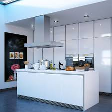 modern kitchen design ceiling light white wooden cabinet doors