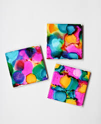 Diy Coasters Alcohol Ink Coasters Kit The Crafted Life