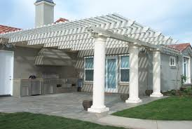 Lattice Patio Ideas by Patio Ideas Covered Patio Kits With White Louvered Patio Cover