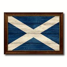 home decor gift items scotland country texture flag rustic vintage giclée print home