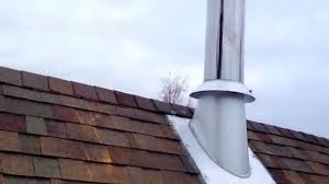 supervent chimney cap installation high slope roof flashing