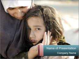 poverty in arabic country powerpoint template u0026 backgrounds id