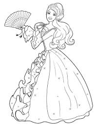 9 Beautiful Barbie Coloring Pages For Girls Coloring Pages Princess Coloring Pages