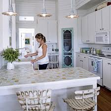 cozy paint color schemes for modern kitchen design trends with l shaped tile countertop for open kitchen design