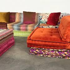 roche bobois multi colored mah jong modular sofa by hans hopfer