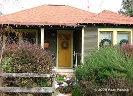 Exterior Door Color Combinations Bungalow Color Scheme With Yellow Front Door Exterior Paint