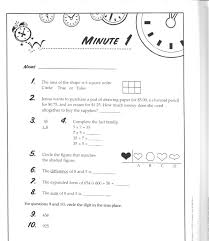 fact family worksheets minute math 5th grade one level koogra