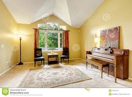 Living Room With Chairs Only Bright Living Room With Antique Piano Stock Photo Image 44675427