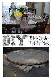 Diy Outdoor Wooden Table Top by Best 25 Round Table Top Ideas On Pinterest Painted Round Tables