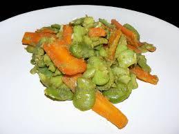 comment cuisiner des feves fraiches fèves fraîches sautées aux carottes une cuisine pour voozenoo