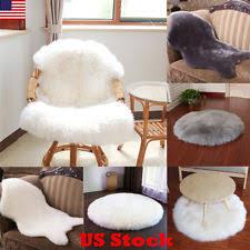 Fluffy Armchair Grey Sheepskin Rug Ebay