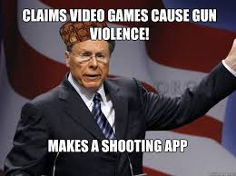 App That Makes Memes - claims video games cause gun violence makes a shooting app