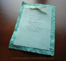 paper for invitations make your own wedding invitations
