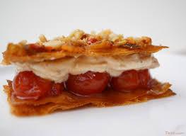 epicurien recettes de cuisine mille feuille croustillant aux tomates cerises confites et au duo