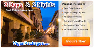 cheapest rates on vigan packages for 2017