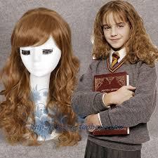 harry potter hermione movie harry potter hermione jean granger brown wavy wig role play