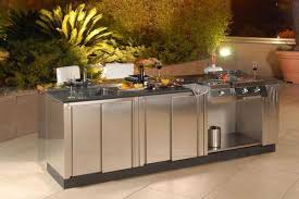 Striking Outdoor Kitchens Stainless Steel With Sliding Kitchen - Stainless steel kitchen storage cabinets