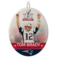 nfl new patriots tom brady bowl li mvp ornament