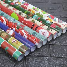 large rolls of christmas wrapping paper new christmas wrapping paper 7 rollsgift packaging paper drawer