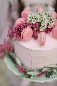 cake with berries and macaroons wedding bells pinterest