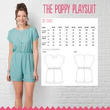 jumpsuit stitching pattern the poppy playsuit simply sewing magazine