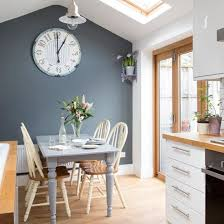 decorating with white grey feature wall big clocks and clocks