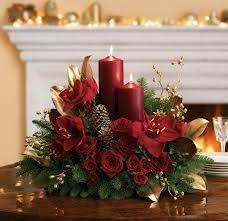 christmas candle centerpiece ideas idea ribbon and a square vase flowers are pretty