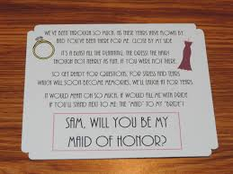 asking of honor poem way to invite someone to be your bridesmaids of honor