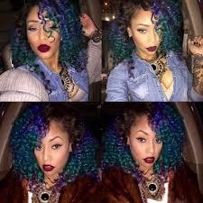 bohemian hair weave for black women green blue purple kinky curly ombre hair weave hairstyle black