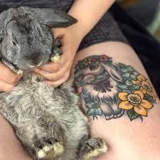 25 bunny tattoos ideas small animal tattoos
