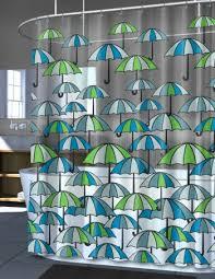 splash home blue u0026 green umbrella peva vinyl shower curtain