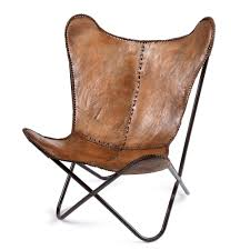 Airborne Butterfly Chair by Butterfly Chair In Brown Leather 510 Hall Union Street