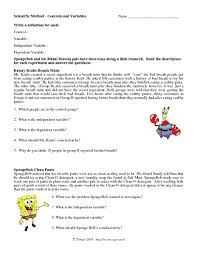 scientific method control and variables worksheet lesson planet