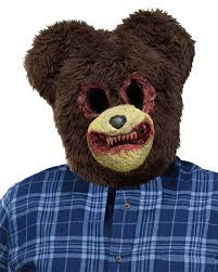 Real Looking Halloween Masks Scary Bear Animal Halloween Costume Mask Walmart Com