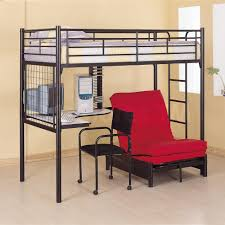 Twin Workstation Loft Bunk Bed With Futon Chair  Desk Coaster - Twin loft bunk bed