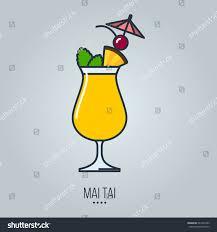 mai tai cocktail glass mai tai cocktail vector icon stock vector 447326743