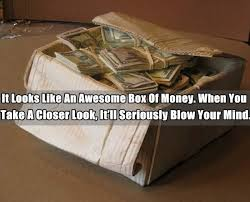 awesome wood carving to create an illusion of a box of money pls