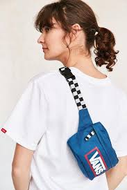 lyst vans uo belt bag in blue