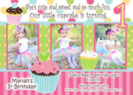 cupcake birthday party invitation 1st birthday invitation