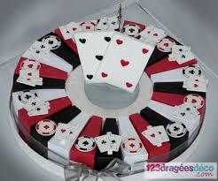 boites ã dragã es mariage gâteau 24 boîtes à dragées thèmes casino las vegas