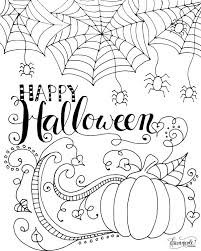 coloring pages excellent happy halloween coloring pages