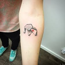 origami elephant tattoo 66 elephant tattoo designs with meaning