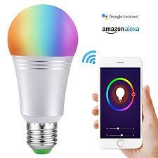 alexa controlled light bulbs smart led light bulb wi fi smart bulbs 6000k dimmable color