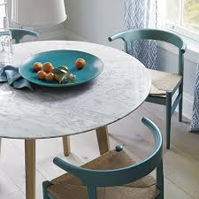 Teal Dining Table On The Hunt For A Round Dining Table The Fox And She