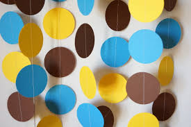 Baby Blue And Brown Baby Shower Decorations Birthday Decorations Blue Yellow U0026 Brown Garland Baby