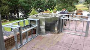ideas for outdoor kitchen building an outdoor kitchen with paversbuilding outdoor kitchen with