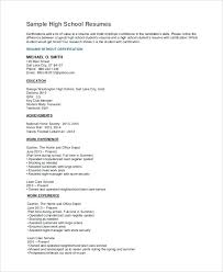 high school resume for college template high school resume for college cliffordsphotography