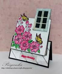 shining colours handmade crafts fancy fold card