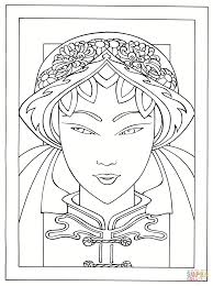 young japanese woman coloring page free printable coloring pages
