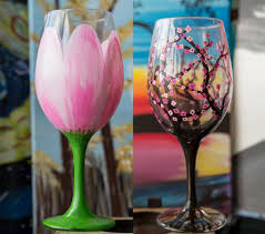 wine glass painting wine glass gallery so much fun paint and sip